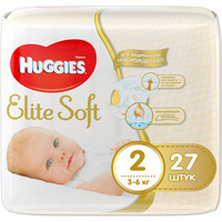 HUGGIES Elite Soft NewBorn 3-6 кг (27)