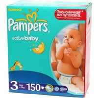 Pampers Active Baby-Dry 4-9 кг (150)