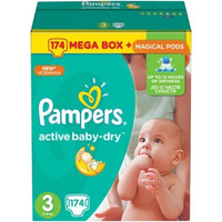 Pampers Active Baby-Dry 5-9 кг (174)