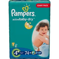 Pampers Active Baby-Dry 9-16 кг (74)