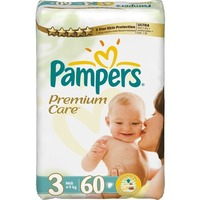 Pampers Premium Care 4-9 кг (60)
